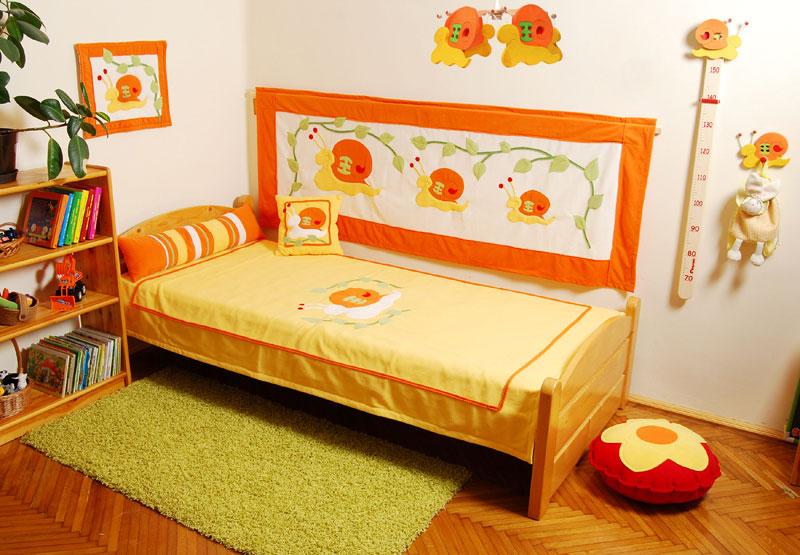 Gyerektakaró  Ágytakaró Narancs-csigás mintával ba3f29ca74